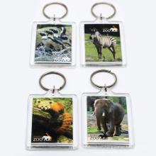 Make Your Own Round Plastic Acrylic Photo Keyring Key Ring Keychain Wholesale