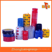 Heat sensitive customizable PVC material printable tamper evident shrink bands with your logo
