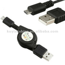 Micro USB Cable to USB A Retractable Data Sync Charger Cable For Blackberry Nokia