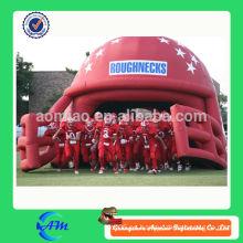 Casco de fútbol inflable personalizado con túnel