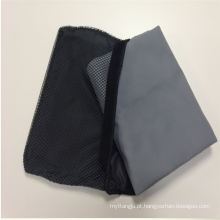 Absorvente e secagem rápida de microfibra personalizada camurça viagem esportes toalha de praia com saco de rede