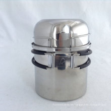 Juego de utensilios de cocina de camping de acero inoxidable 304, 2 piezas