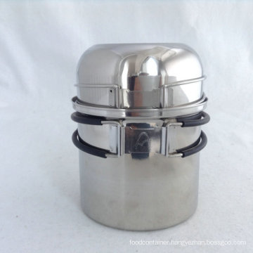 304 Stainless Steel Camping Cookware Set 2 Pieces