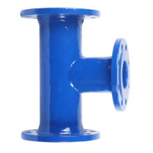 Ductile cast iron pipe all flanged tee