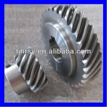 HRSY Acero S45C rueda de engranaje helicoidal Fábrica