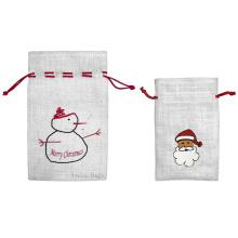 Weihnachten Jute Drawstring Bag (JDB-3)