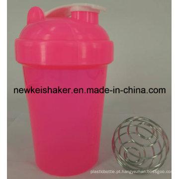 Popular 500ml Outdoor Sports Plastic Protein Shaker Garrafa com tampa
