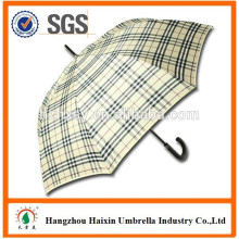 Guarda-chuva de auto promoção em linha reta aberta com alça de ombro