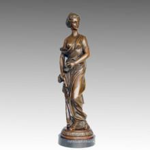 Женские бронзовые садовые скульптуры одежды Леди Арт статуя фигурка Латунь ТПЭ-548