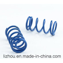 Compression Spring with Blue Spray Paint