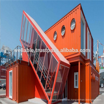 ISO Certificate Modern Structural Design Steel Frame 20FT/40FT Container Houses
