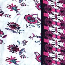 Nova moda rayon spandex floral colocação tecido estampado