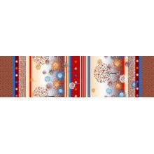Microfibra poliester dispersar planta impresa tela de Cachemira