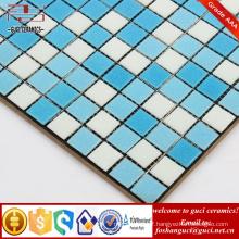 China supply blue mixed Hot - melt mosaic floor and wall tiles