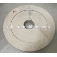 Pan de molienda de cerámica placa al2o3 zirocnia mullita de cerámica molienda molino de placa redonda de molienda