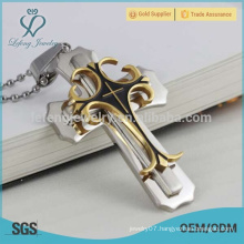 In stock multilayer cross pendant designs,stainless steel colorful cross pendants