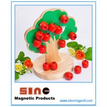 Jouet en bois magnétique d'arbre de pomme / jouet éducatif