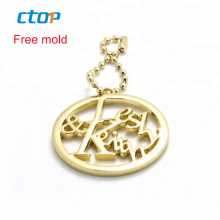 Handbag accessories decoration for bags private label logo metal custom clothing label metal clothing logo tag