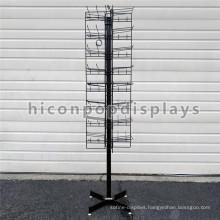 8 Tiered 96 Prongs 65 Long Floorstanding Rotating Metal Candy Bag Wholesale Hanging Display Racks
