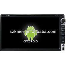 Reproductor de DVD del coche Android System para Universal 4 con GPS, Bluetooth, 3G, iPod, juegos, zona dual, control del volante