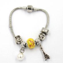 Bracelet en cristal Bracelet en forme de serpent argenté Fermoir rapide