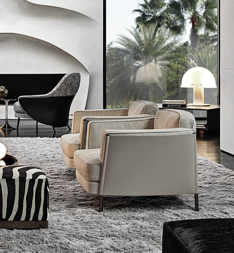 Minotti-SHELLEY-Lounge-Chair-for-Living-Space