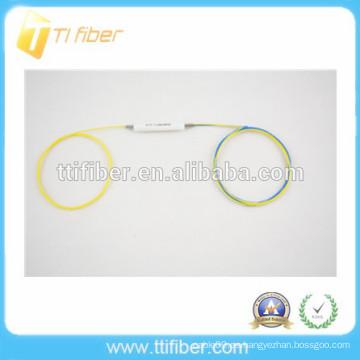 Divisor de fibra óptica de una sola ventana 1x2 FBT de alta calidad