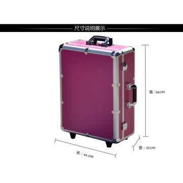 Trolley cosmétique professionnelle Fashion Aluminium Red