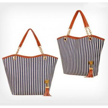 2015 Mulheres da moda Stripe Canvas Bag (54036)