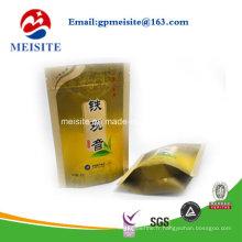 Sac de thé en plastique haute qualité Doypack Zipper