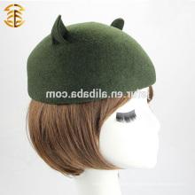 Hochwertiger Fedora Hut 100% australischer Wollfilz Fedora Hut mit niedlichem Katzenohr