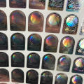 Доказательства шпалоподбойки Анти -- подделки 3D изготовленный на заказ стикер hologram