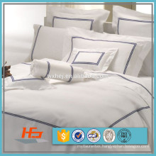 300T Cotton Duvet Cover With Double Row Embroidery