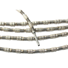 Diamond vacuum brazed beads wire saw for diamond wire saw cutting machine