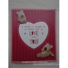 Die-Cut Urso Diamante Decorado Em relevo Art Paper Holiday Greeting Greeting Card