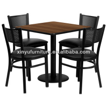 Commercial metal restaurant table and chair set XDW2002