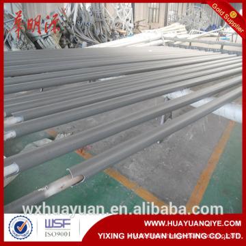 Street lighting single or double arm round tubular steel poles