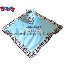 "15 ""Venda quente Stuffed zebra cabeça estilo bebê cobertor Plush Comforter Bib"