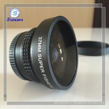 Lentille d'appareil-photo d'oeil de poisson de définition élevée de 37mm 0.21x pour Canon Nikon DSLR SLR