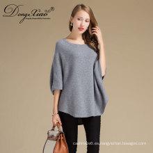 Oem precio de fábrica nuevo invierno o-cuello de punto de mujer floja Ladiessweaters, suéter de lana pura