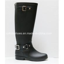 OEM Hottest Anti-Water Flat Women Rubber Rain Boots