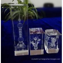 Cubo de cristal feito sob encomenda dos vários tamanhos para a decoração