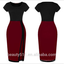 Ladies formal elegant fitting sexy short sleeve Splicing a hip dress and a short short-sleeved pencil skirt PS02