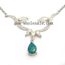 Joyería collar de plata del ópalo (YN00007)
