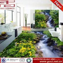 Porzellanherstellung 3d grüne Natur, die verglaste Porzellanfußboden- und -wandfliese druckt