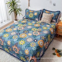 Hotel Fashions Steel Blue Bedspread Cover Queen Size Comforter Set All-Season