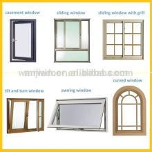 Nouveaux types de fenêtres en verre, types de fenêtres en verre de haute qualité en Chine