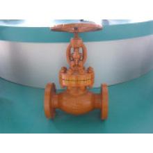 Válvula de globo de brida con pintura