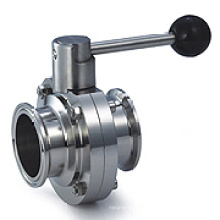 Sanitary Stainless Steel Clamped Butterfly Valves