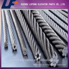 Ascensor cuerda de alambre de acero, cuerda de alambre para ascensor, piezas de recambio de ascensor